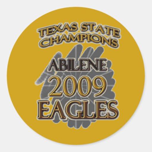 Abilene High School Eagles 2009 Texas Champions! Stickers