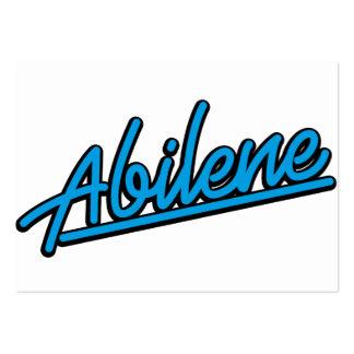 Abilene in cyan business card template
