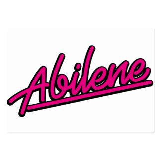 Abilene in magenta business card template