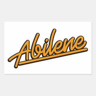 Abilene in orange rectangle sticker