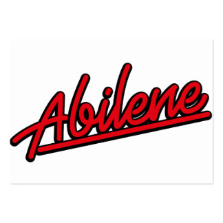 Abilene in red business card templates