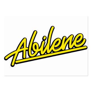 Abilene in yellow business card template
