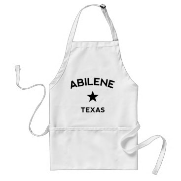 USA Themed Abilene Texas Adult Apron