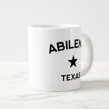 USA Themed Abilene Texas Large Coffee Mug