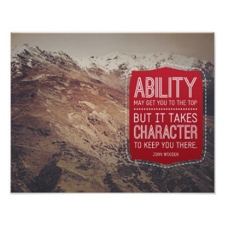 Ability And Character Poster