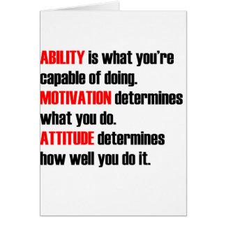 ability motivation attitude greeting card