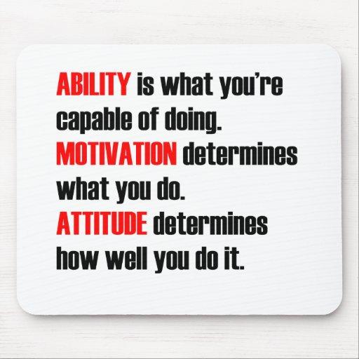 ability motivation attitude mouse pad