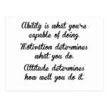 Ability Motivation Attitude Postcard