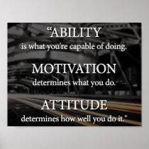 Ability, Motivation, Attitude Poster