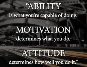 Ability Motivation Attitude Poster