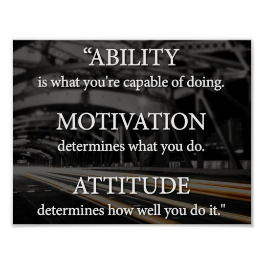 Image result for ability motivation attitude poster""