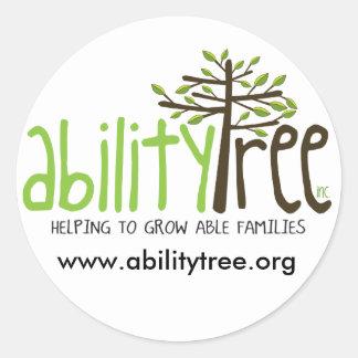 AbilityTreeLOGO, www.abilitytree.org Classic Round Sticker