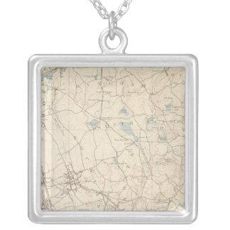 Abington, Massachusetts Square Pendant Necklace