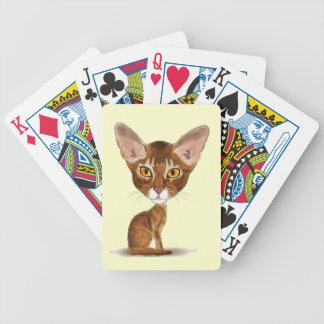 Abisinio de la caricatura baraja de cartas