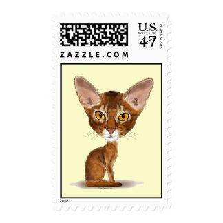 Abisinio de la caricatura sello postal