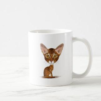 Abisinio de la caricatura taza de café