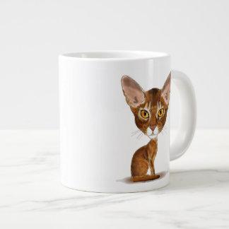 Abisinio de la caricatura taza de café grande