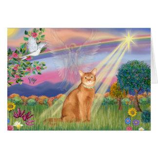 Abisinio (rojo 18) - núblese el ángel tarjeta de felicitación