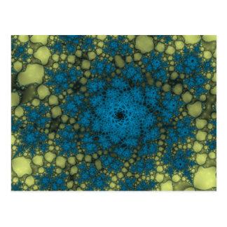 Abismo abstracto azul amarillo postal