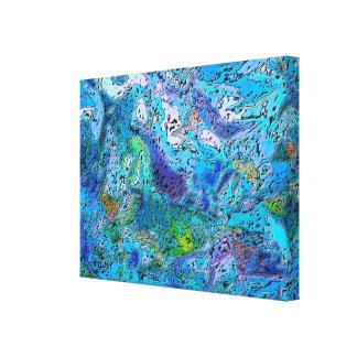 Abismo azul lona envuelta para galerías