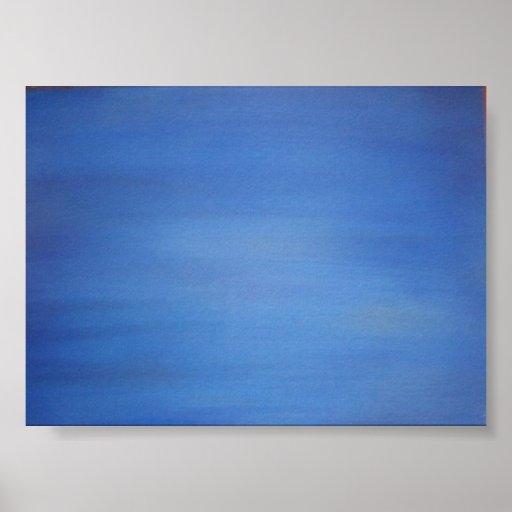 abismo azul póster