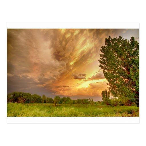Abismo en el cielo tarjeta postal