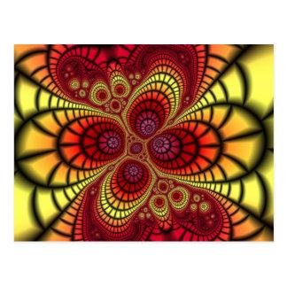 Abismo interno abstracto tarjetas postales