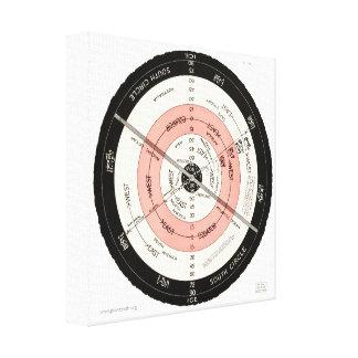 "Abizaid ""Flat Surface, Stationary Earth"" Map Art Canvas Print"