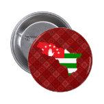 Abjasia señala el mapa por medio de una bandera de pins