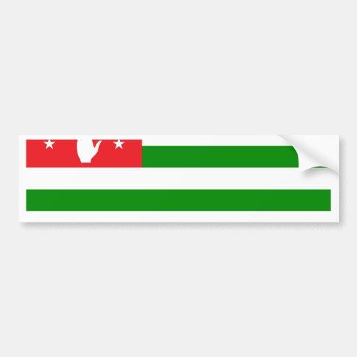 Abjasia señala por medio de una bandera etiqueta de parachoque