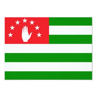 """Abjasia señala por medio de una bandera invitación 5"""" x 7"""""""