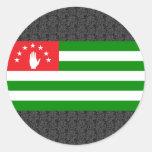 Abjasia señala por medio de una bandera pegatina redonda
