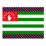 Abjasia señala por medio de una bandera tarjeta postal
