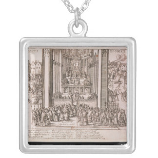Abjuration of Henri IV Silver Plated Necklace