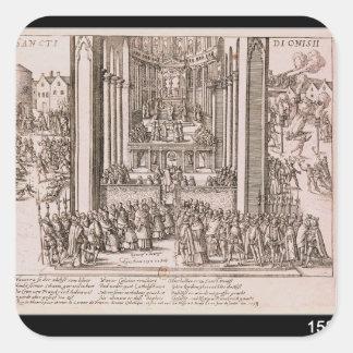 Abjuration of Henri IV Square Sticker