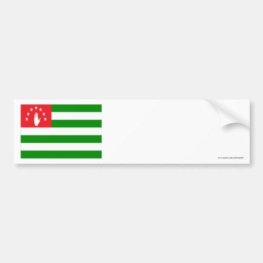 Abkhazia Flag Car Bumper Sticker