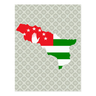 Abkhazia Flag Map full size Post Cards