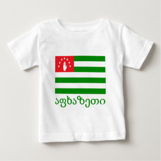 Abkhazia Flag with Name in Georgian Baby T-Shirt