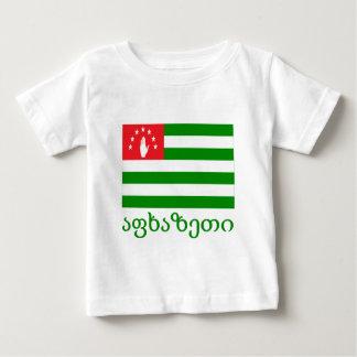 Abkhazia Flag with Name in Georgian Tee Shirts