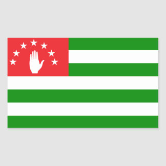 abkhazia rectangular sticker