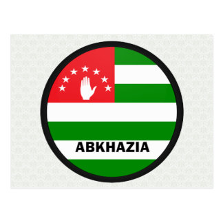 Abkhazia Roundel quality Flag Postcard