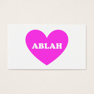 Ablah Business Card