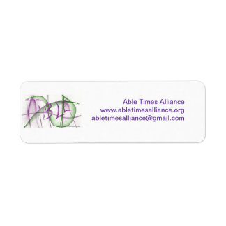 Able Times Alliance Stickers Return Address Label