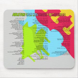 Ableton Live 8 ataja Mousepad Alfombrilla De Ratón