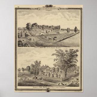 Abner Hill and John Barto residences Poster