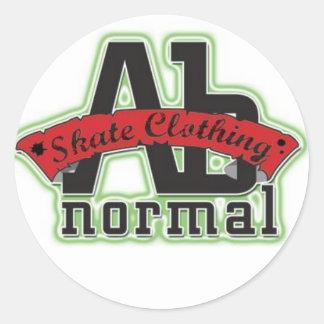 abnormal classic round sticker
