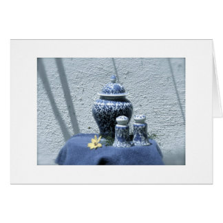 Abntique Chinese China Still Life Card
