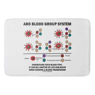 ABO Blood Group System Understand Blood Type Bathroom Mat