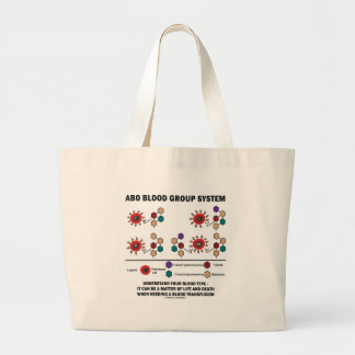 ABO Blood Group System Understand Blood Type Large Tote Bag
