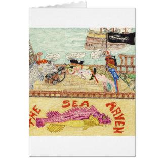 Aboard The Sea Raven Greeting Card